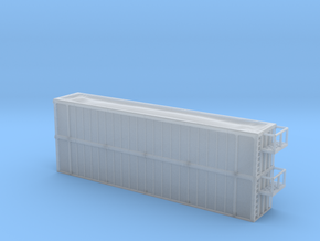 Trash Gondola Double Stack 48foot - Zscale in Frosted Ultra Detail