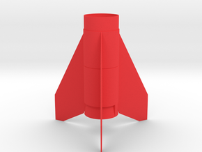 Black Brant lll Fin Unit BT55 for 24mm motors in Red Strong & Flexible Polished