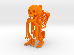 Mr Bones -- Articulated Skeleton in Orange Strong & Flexible Polished