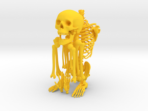 Mr Bones -- Articulated Skeleton in Yellow Strong & Flexible Polished