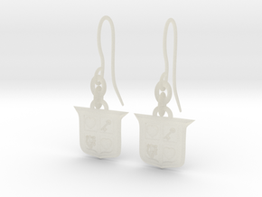 Legend of Zelda Inspired Earrings With Hooks in Transparent Acrylic