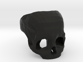 3D Printed Skull Ring by Bits to Atoms in Black Strong & Flexible