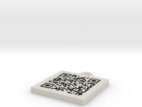 QR Code Pendant in Full Color Sandstone