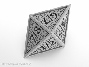 Hedron D8 Tarmogoyf (Solid), balanced die in Polished Metallic Plastic