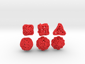 Loops Dice - Small in Red Strong & Flexible Polished