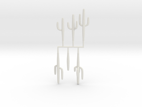 Z Scale Saguaro Collection 01 in White Strong & Flexible