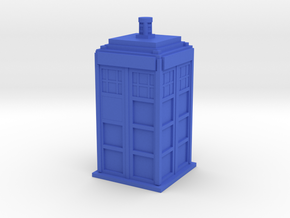 Police Box (TARDIS) in Blue Strong & Flexible Polished