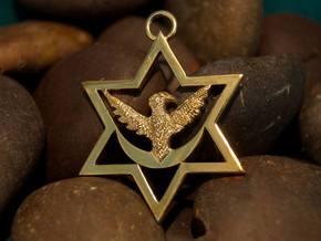 Eagle Star in Polished Brass