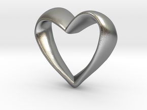 Twisted Heart in Raw Silver