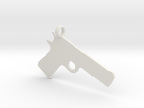 1911 charm in White Strong & Flexible
