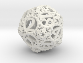 Static Gear (D20) in White Strong & Flexible
