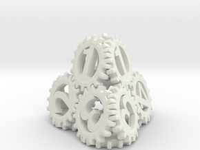 Static Gear Die (D4) in White Strong & Flexible