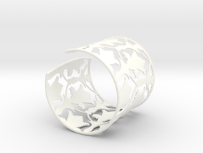 Sherlock Cuff: Solid version - Size S in White Strong & Flexible Polished