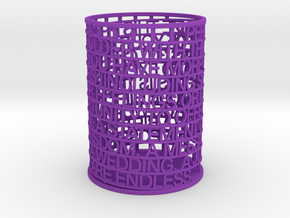 Personalized Pen Holder in Purple Strong & Flexible Polished