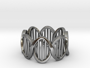 DNA Ring (Size 4) in Premium Silver