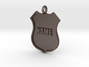 Police Shield Pet Tag / Key Fob in Stainless Steel
