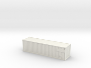 Container30ft  (N-scale) in White Strong & Flexible