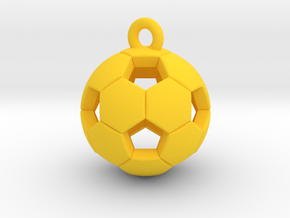 Soccer Ball Pendant (small size) in Yellow Strong & Flexible Polished