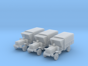 1/160 WW1 Light Trucks 3 in Frosted Ultra Detail