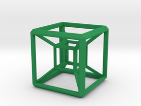 HyperCube Base for 48mm 3d-Cross in Green Strong & Flexible Polished
