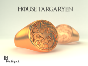 Size 8 Targaryen Ring in Raw Bronze