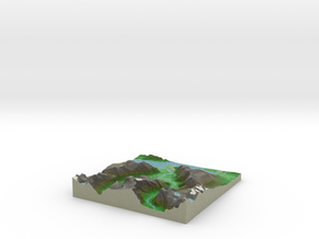 Terrafab generated model Thu Aug 07 2014 11:14:04  in Full Color Sandstone