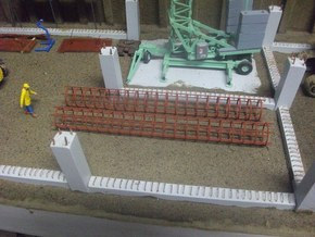 Cage for foundation piles in White Strong & Flexible
