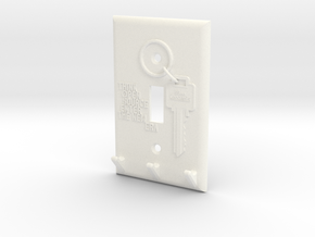 Light Switch Key Hanger in White Strong & Flexible Polished