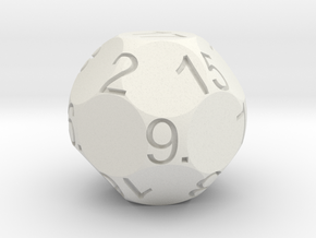 D17 Sphere Dice in White Strong & Flexible
