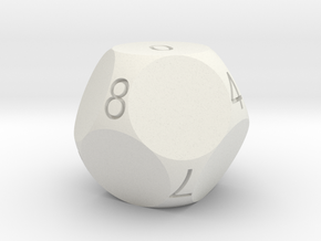 D10 4-fold Sphere Dice in White Strong & Flexible