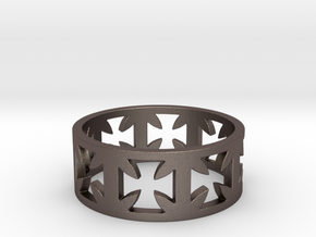 Outlaw Biker Cross Ring Size 14 in Stainless Steel