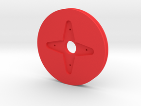 Servo-wheel-4-arm-horn in Red Strong & Flexible Polished