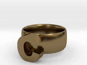C Ring in Polished Bronze
