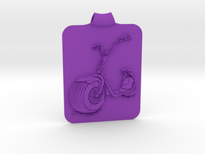 Scooter Key Fob in Purple Strong & Flexible Polished