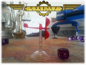 Corvette | Steampunk Airship Miniature in Red Strong & Flexible Polished
