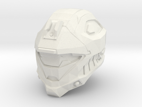 1/6 scale Helmet WSF in White Strong & Flexible