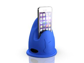 Shark - Give me a call - Cradle for iPhone 5 in Blue Strong & Flexible Polished
