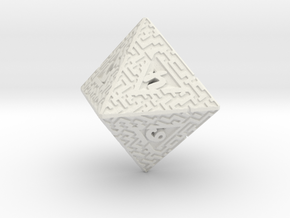 8 Sided Maze Die in White Strong & Flexible
