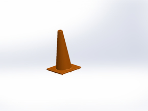 1:10th scale traffic cone in Orange Strong & Flexible Polished