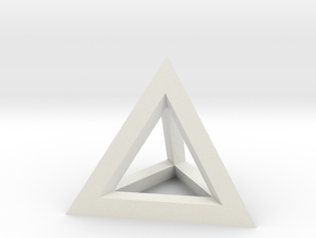 Hollow Pyramid Pendant in White Strong & Flexible