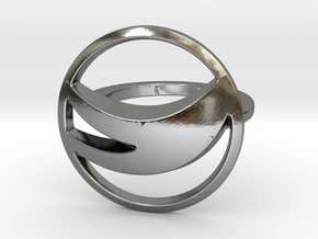Globemed Ring, Original  in Polished Silver