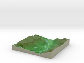 Terrafab generated model Tue Aug 12 2014 11:29:42  in Full Color Sandstone