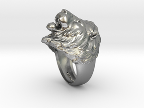 Lion Ring in Raw Silver