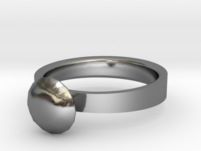 Ring - Diamond in Polished Silver