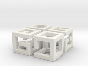 More MazeNCubes in White Strong & Flexible