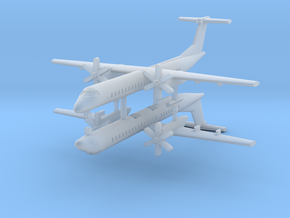 1/700 Bombardier Dash-8 Q400 (x2) in Frosted Ultra Detail
