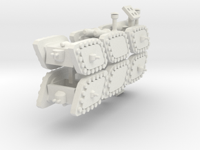 3 Mixed Set of 6 Armored Vehicles  in White Strong & Flexible