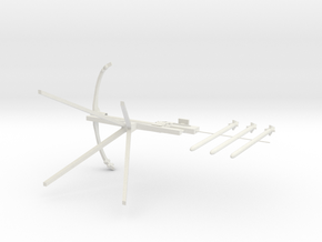 Crossbow resized to print in White Strong & Flexible