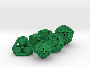 Dice Set in Green Strong & Flexible Polished