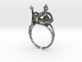 Three Towers Ring in Polished Silver